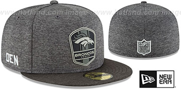 Broncos 'ROAD ONFIELD STADIUM' Charcoal-Black Fitted Hat by New Era