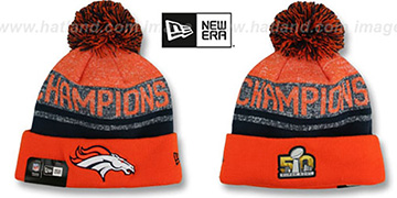 Broncos SUPER BOWL 50 CHAMPS Knit Beanie Hat by New Era