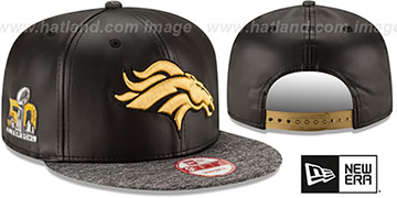 Broncos 'SUPER BOWL 50 CHAMPS SNAPBACK' Black-Grey Hat by New Era