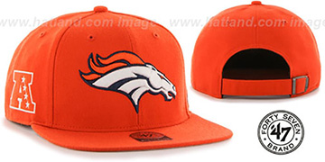 Broncos SUPER-SHOT STRAPBACK Orange Hat by Twins 47 Brand