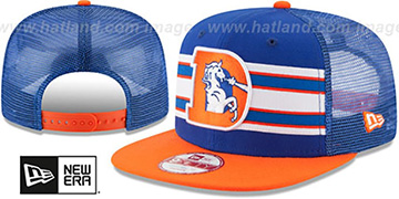 Broncos 'TB THROWBACK-STRIPE SNAPBACK' Royal-Orange Hat by New Era