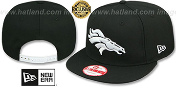 Broncos TEAM-BASIC SNAPBACK Black-White Hat by New Era