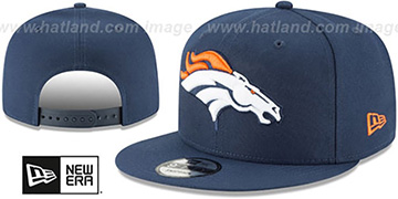 Broncos TEAM-BASIC SNAPBACK Navy Hat by New Era