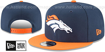 Broncos TEAM-BASIC SNAPBACK Navy-Orange Hat by New Era