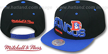Broncos THE-WAVE SNAPBACK Black-Royal Hat by Mitchell and Ness