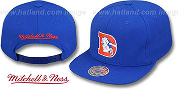 Broncos 'THROWBACK-BASIC SNAPBACK' Royal Hat by Mitchell & Ness