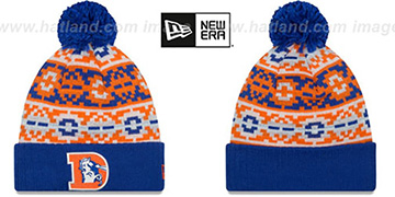 Broncos 'THROWBACK RETRO CHILL' Knit Beanie Hat by New Era