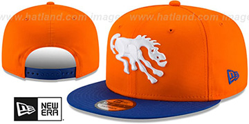 Broncos THROWBACK TEAM-BASIC SNAPBACK Orange-Royal Hat by New Era