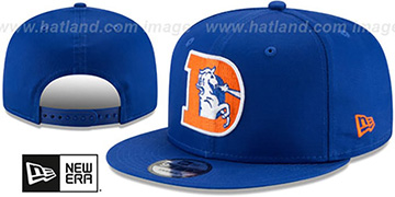 Broncos THROWBACK TEAM-BASIC SNAPBACK Royal Hat by New Era