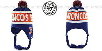 Broncos THROWBACK 'CRANBROOK' Knit Beanie Hat by Twins 47 Brand