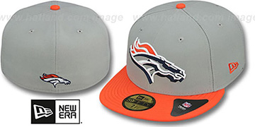Broncos 'TRACE-POP' Grey-Orange Fitted Hat by New Era