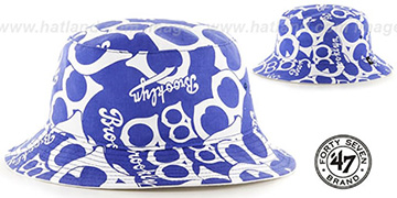 Brooklyn Dodgers COOP BRAVADO BUCKET Hat by Twins 47 Brand
