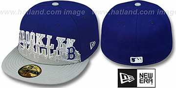 Brooklyn Dodgers COOP 'CITY-LINE' Royal-Grey Fitted Hat by New Era