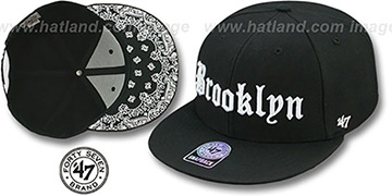 Brooklyn 'GOTHIC PAISLEY SNAPBACK' Adjustable Hat by Twins 47 Brand
