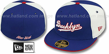 Brooklyn PINWHEEL-CITY Royal-White-Royal Fitted Hat by New Era