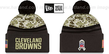 Browns '2016 SALUTE-TO-SERVICE' Knit Beanie Hat by New Era