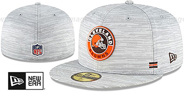 Browns 2020 ONFIELD STADIUM Heather Grey Fitted Hat by New Era