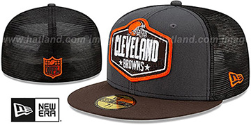 Browns 2021 NFL TRUCKER DRAFT Fitted Hat by New Era