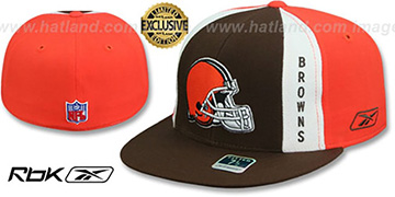 Browns AJD PINWHEEL Brown-Orange Fitted Hat by Reebok