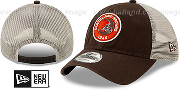 Browns ESTABLISHED CIRCLE TRUCKER SNAPBACK Hat by New Era