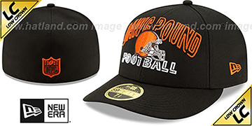 Browns LOW-CROWN ALT 2020 NFL VIRTUAL DRAFT Black Fitted Hat by New Era