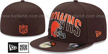 Browns NFL 2013 DRAFT Brown 59FIFTY Fitted Hat by New Era