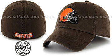 Browns NFL FRANCHISE Brown Hat by 47 Brand