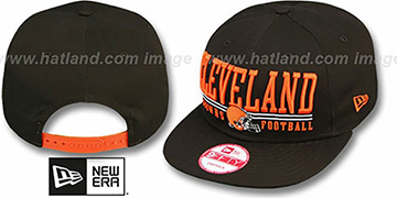 Browns NFL LATERAL SNAPBACK Brown Hat by New Era