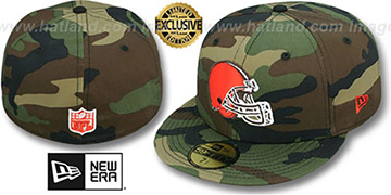 Browns NFL TEAM-BASIC Army Camo Fitted Hat by New Era