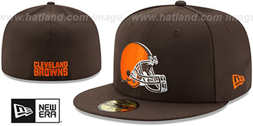 Browns NFL TEAM-BASIC Brown Fitted Hat by New Era