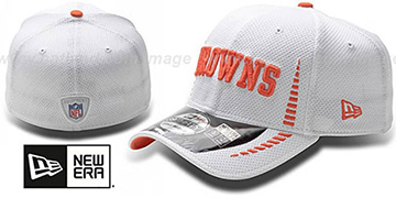 Browns NFL TRAINING FLEX White Hat by New Era