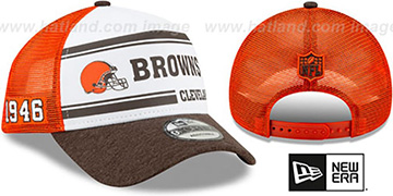 Browns ONFIELD STADIUM 100 TRUCKER SNAPBACK Hat by New Era