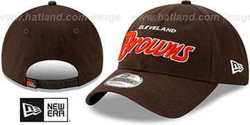 Browns RETRO-SCRIPT SNAPBACK Brown Hat by New Era