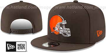 Browns TEAM-BASIC SNAPBACK Brown Hat by New Era