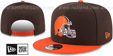 Browns TEAM-BASIC SNAPBACK Brown-Orange Hat by New Era
