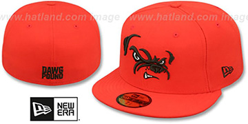 Browns 'TRACE' Orange Fitted Hat by New Era