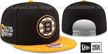 Bruins NHL STAR-TRIM SNAPBACK Black-Gold Hat by New Era
