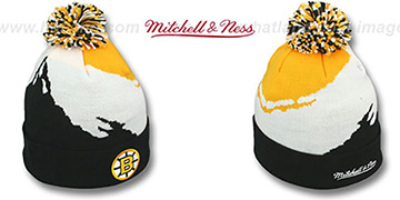 Bruins PAINTBRUSH BEANIE by Mitchell and Ness