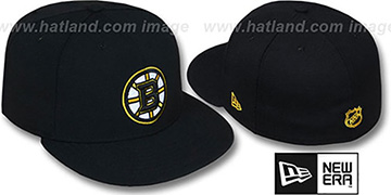 Bruins 'TEAM-BASIC' Black Fitted Hat by New Era