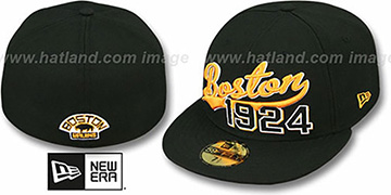Bruins 'THE BEGINNING' Black Fitted Hat by New Era
