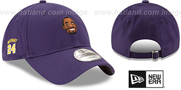 Bryant 'PRIMARY PLAYER STRAPBACK' Purple Hat by New Era