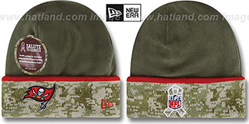 Buccaneers 2014 SALUTE-TO-SERVICE Knit Beanie Hat by New Era