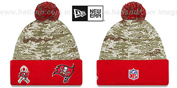 Buccaneers 2015 SALUTE-TO-SERVICE Knit Beanie Hat by New Era