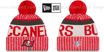 Buccaneers 2017 STADIUM BEANIE Red Knit Hat by New Era