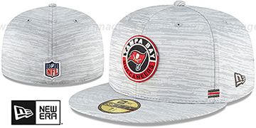 Buccaneers '2020 ONFIELD STADIUM' Heather Grey Fitted Hat by New Era