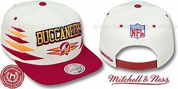 Buccaneers '2T DIAMONDS SNAPBACK' White-Red Adjustable Hat by Mitchell & Ness