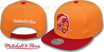 Buccaneers '2T XL-LOGO SNAPBACK' Orange-Red Adjustable Hat by Mitchell and Ness