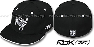 Buccaneers 'DARKSIDE' Black-White Fitted Hat by Reebok