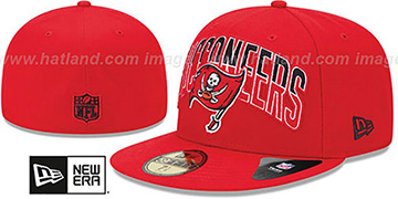 Buccaneers 'NFL 2013 DRAFT' Red 59FIFTY Fitted Hat by New Era