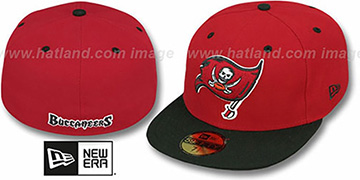 Buccaneers 'NFL 2T-TEAM-BASIC' Red-Black Fitted Hat by New Era